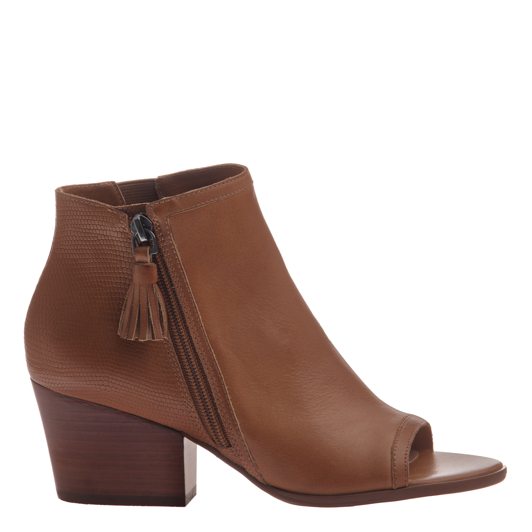 Transparent boot open toe. Ania in butterscotch booties