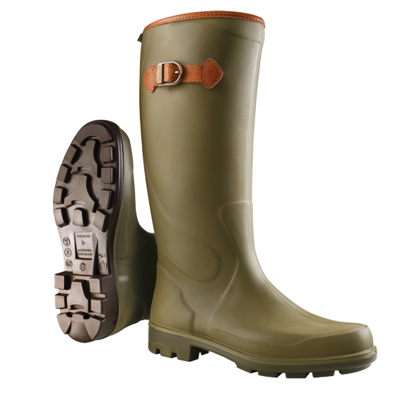 Transparent boot wellie. Waterproof and fashionable boots
