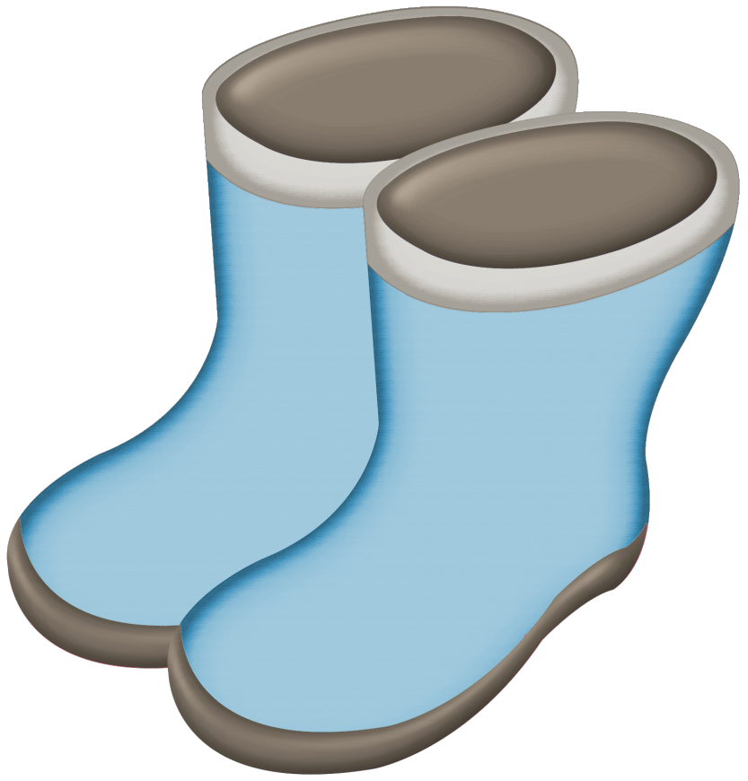 Transparent boot wellie. Collection of free goloshe