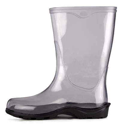 Transparent boot white. Rain boots png stickpng