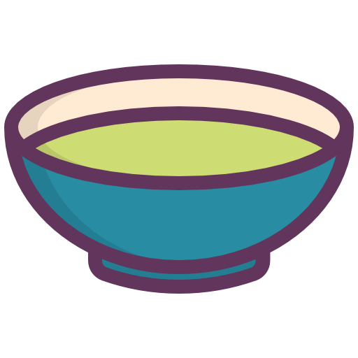 Transparent bowl cooking. Soup vegetables green icon