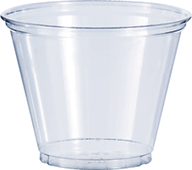 Transparent bowl plain glass. Clear plastic cups oz