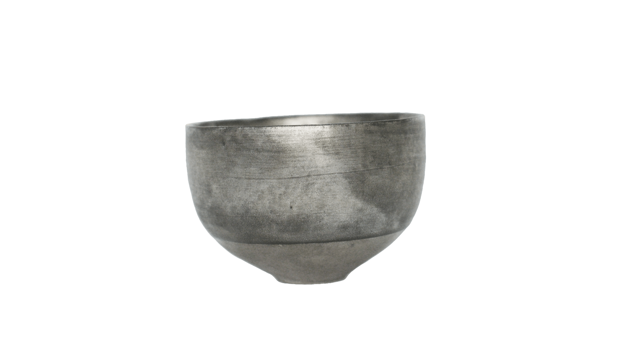 Transparent bowl silver. Masanobu ando glazed studio