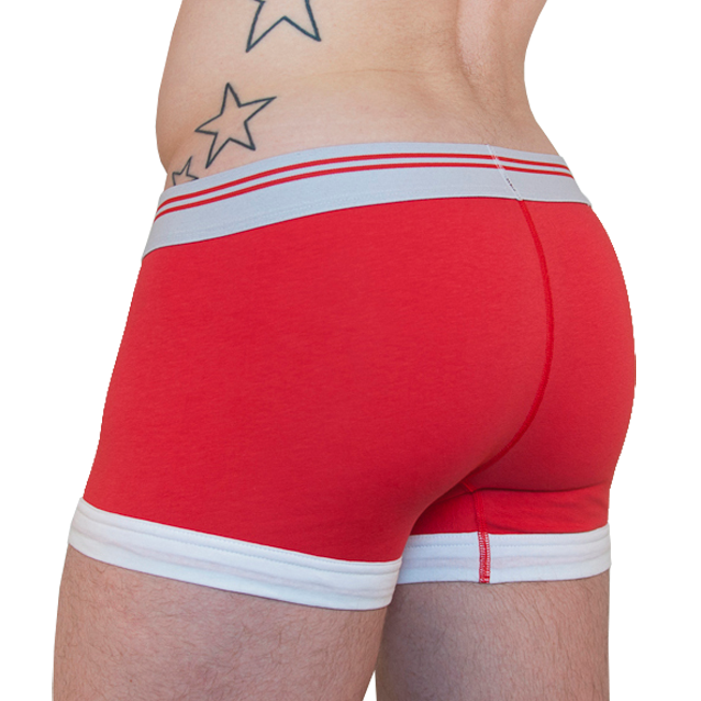 Transparent boxers lace. The bunker attitude is