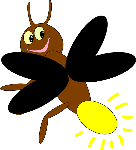 Vector insects firefly. Collection of free fireflies