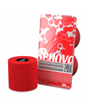 Transparent bugs toilet paper. Colorful renova crystal red