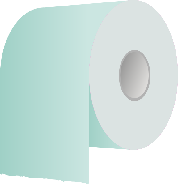 Transparent bugs toilet paper. Roll revisited clip art