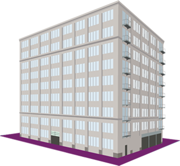 Transparent building clear background. Availability gansevoort