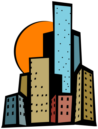 Skyscraper clipart modern building. Collection of free builded