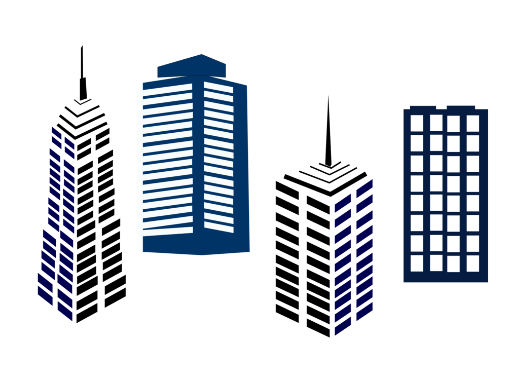 Vector buildings business building. High rise computer icons