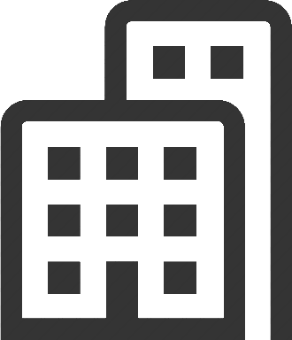 Transparent building icon. Vector png skyscraper free