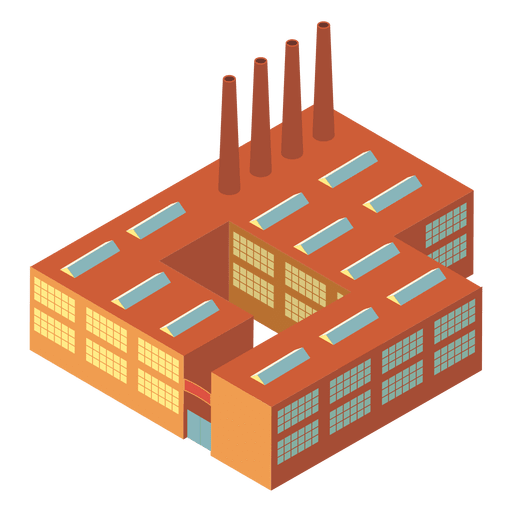 Transparent building industrial. Isometric png svg vector