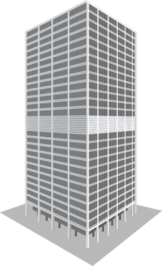 Transparent building rectangular. In png web icons