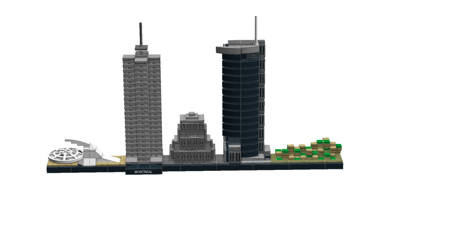 Transparent building skyline. Lego ideas product montreal