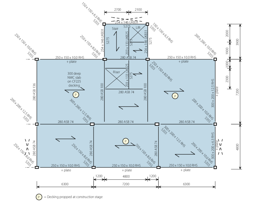 Transparent building structural. Layout for shallow
