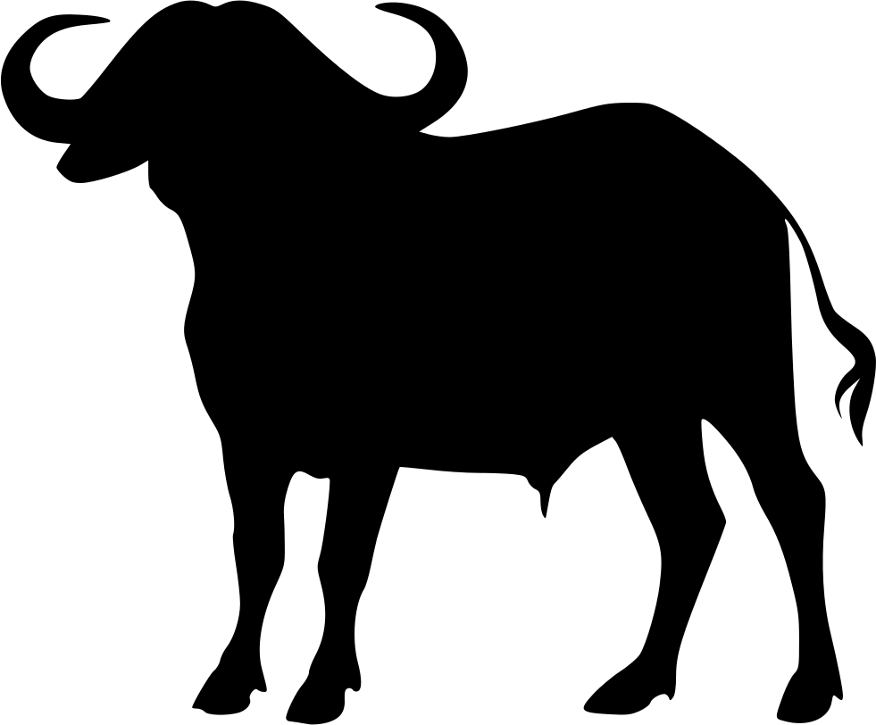 Buffalo transparent silhouette. Collection of free vector
