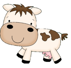Transparent bull cartoon baby. Collection of free calces