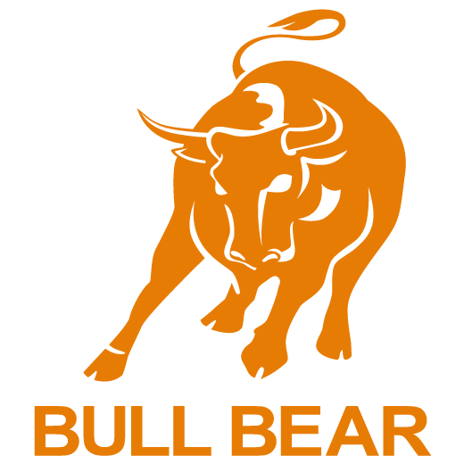 Transparent bull real. Bear time stock index