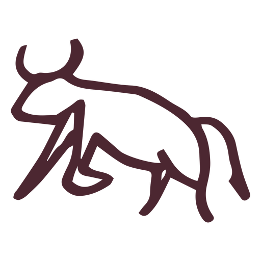 Vector bull aggressive. Egyptian traditional symbol transparent