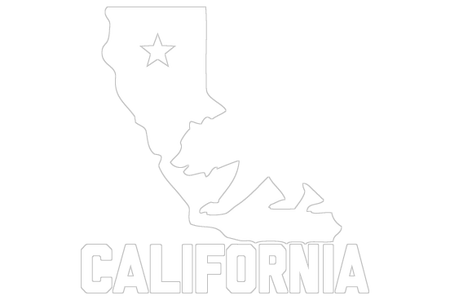 Transparent cali decal. California map outline with