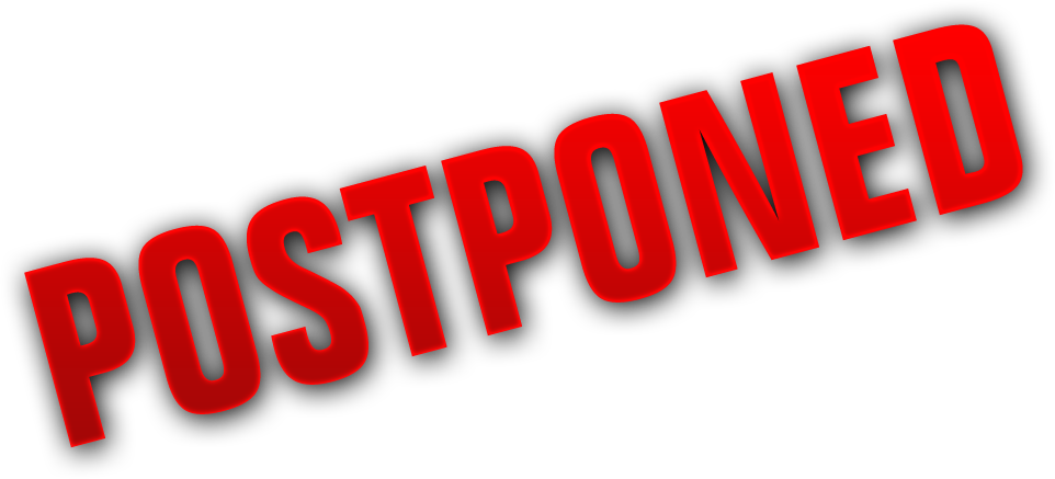 Transparent cancelled background. Breaking supafest is moved