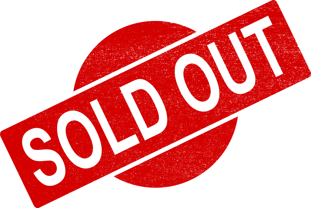 sold out stamp. Transparent cancelled vector banner free