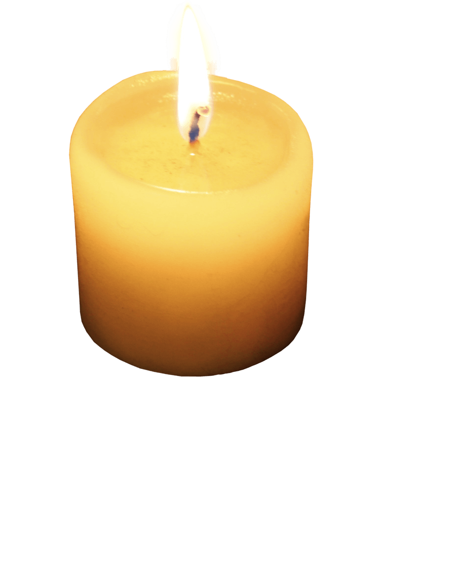 Transparent candles background. Single small candle png