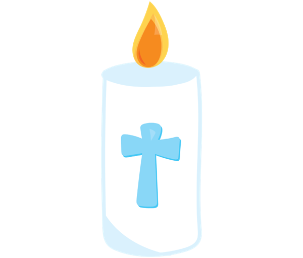 Transparent candles baptism candle. Clipart graphics illustrations free