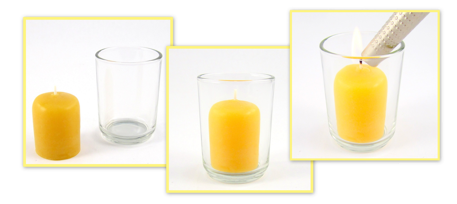 Transparent candles candle wick. Choosing the right beeswax