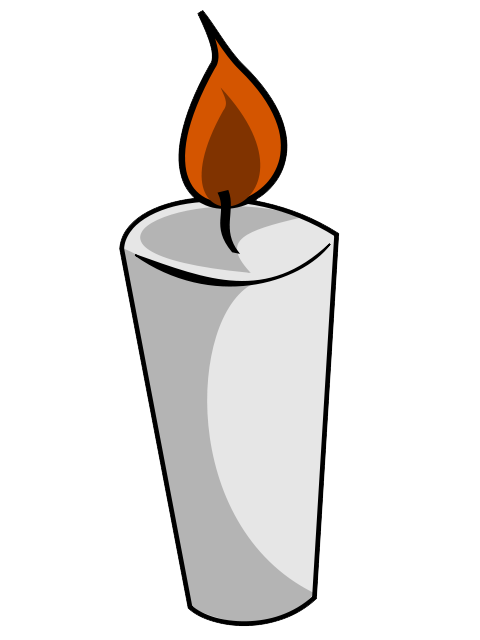 Transparent candles cartoon. Candle free to use