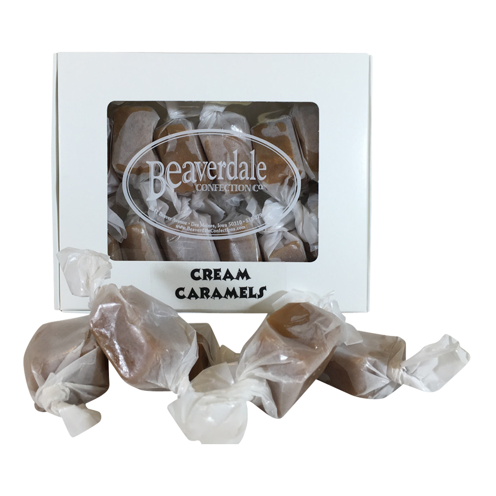 Transparent candles clear background. Cream caramels beaverdale confections