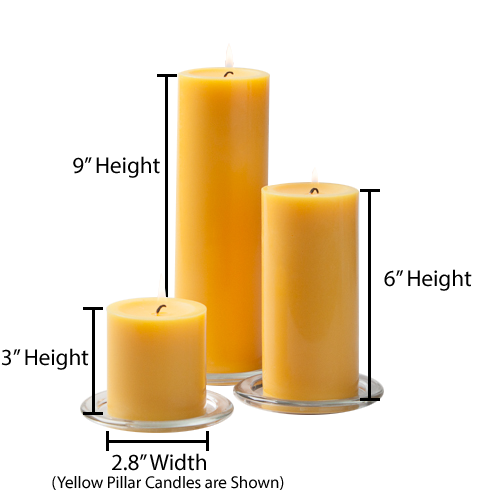 Transparent candles clear background. Richland pillar ivory x