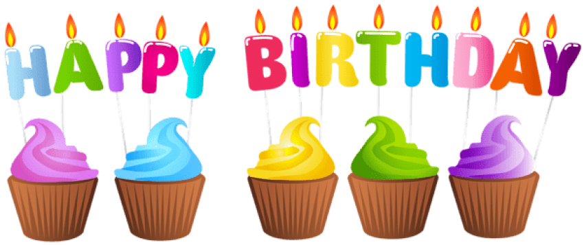 Transparent candles happy birthday. Download muffins png images