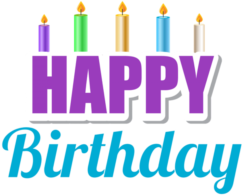 Transparent candles happy birthday. Download with png images