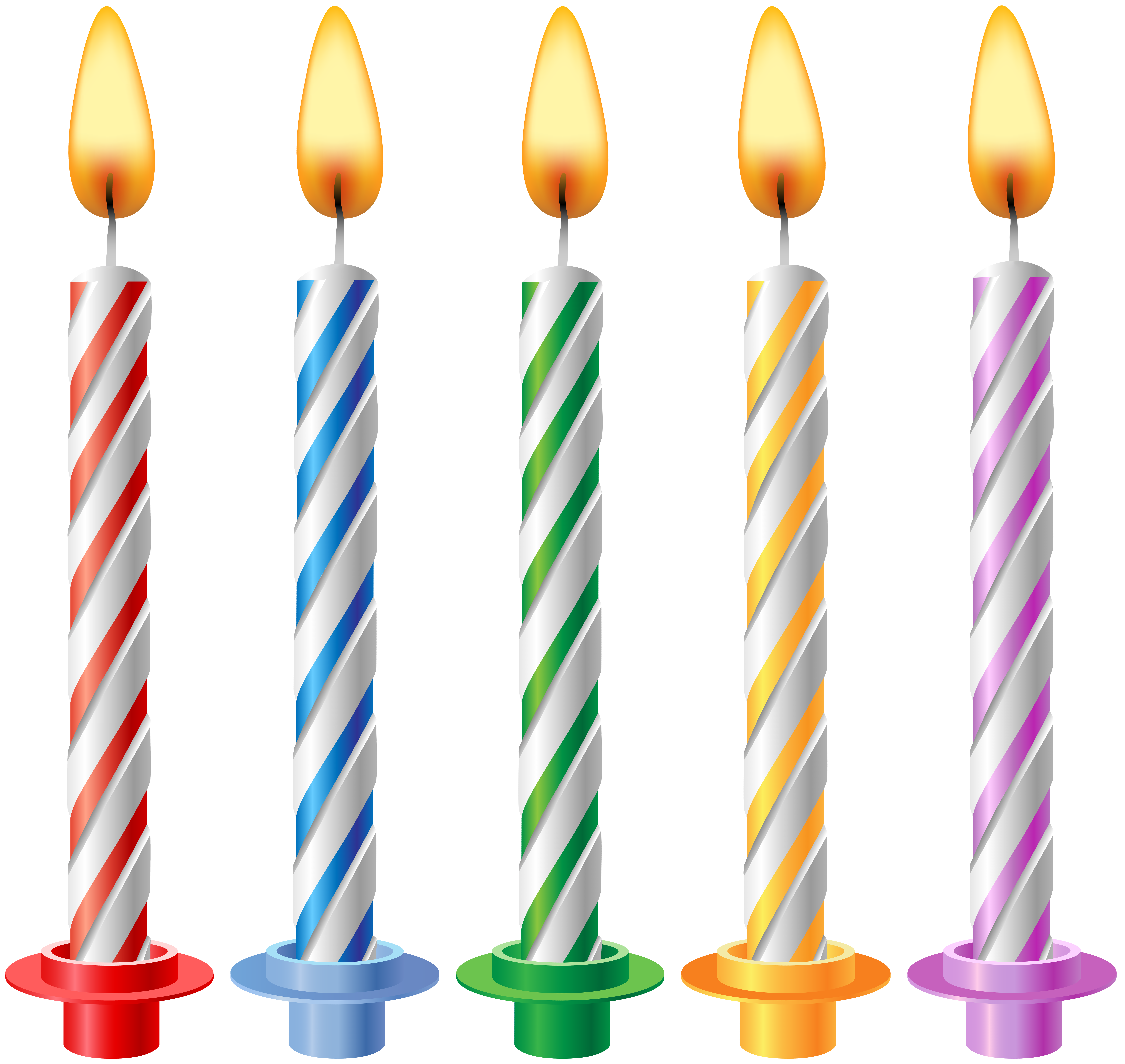 Transparent candles happy birthday. Clip art gallery yopriceville
