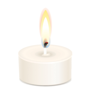 Transparent candles tribute. Mary kathryn edgerton horan