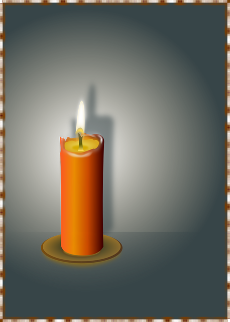 Transparent candles romantic. Free photo candle flame