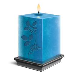 Transparent candles tribute. Minioneti cobb candle of