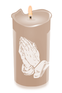 Transparent candles tribute. For leroy james guest