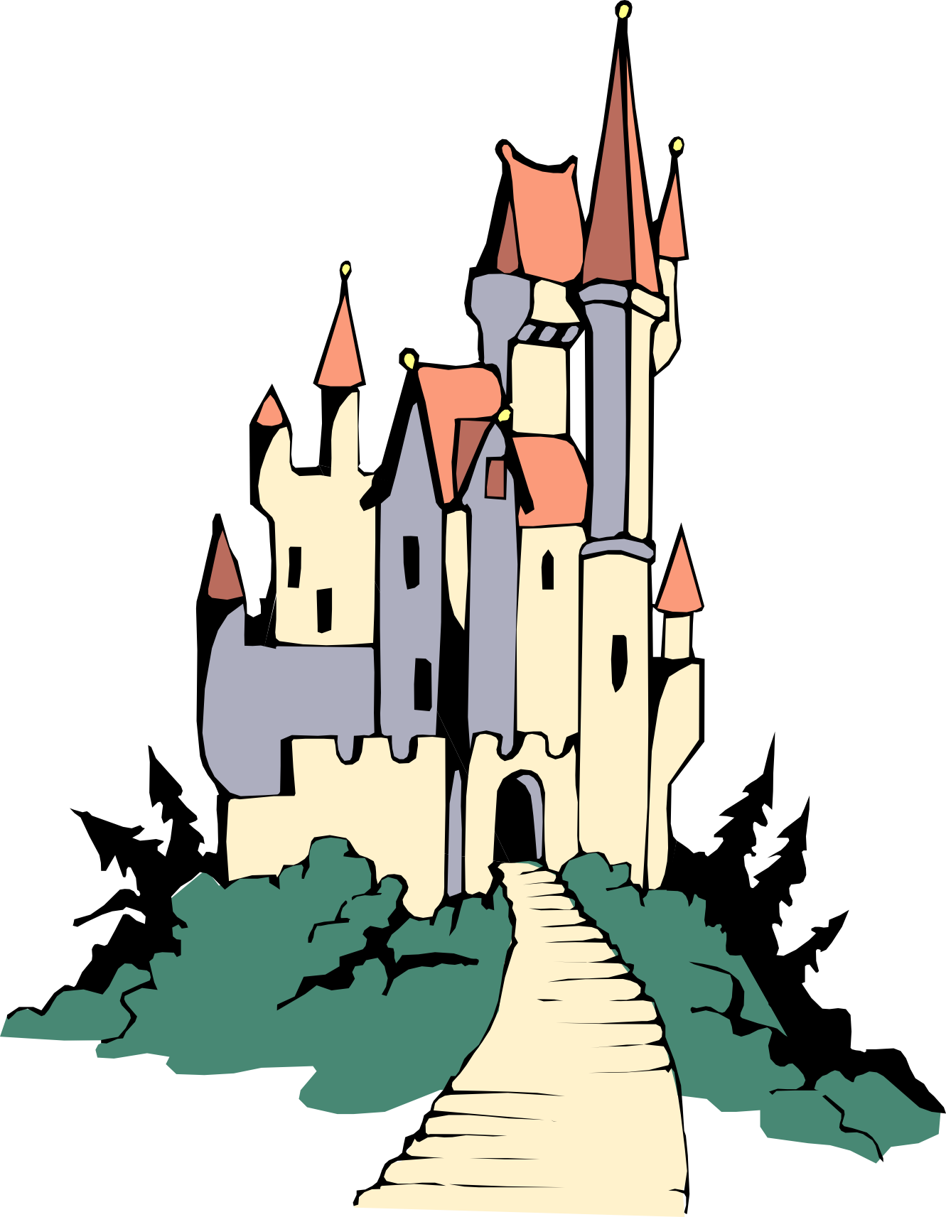 Transparent castle beauty and the beast. Graphic huge freebie