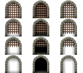 Transparent doors castle. Gate by nicnubill on