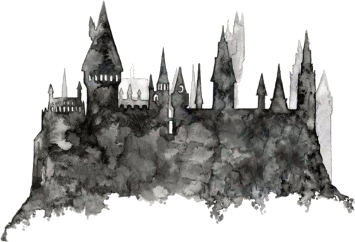 Transparent castle hogwarts. Harry potter harrypotter hp