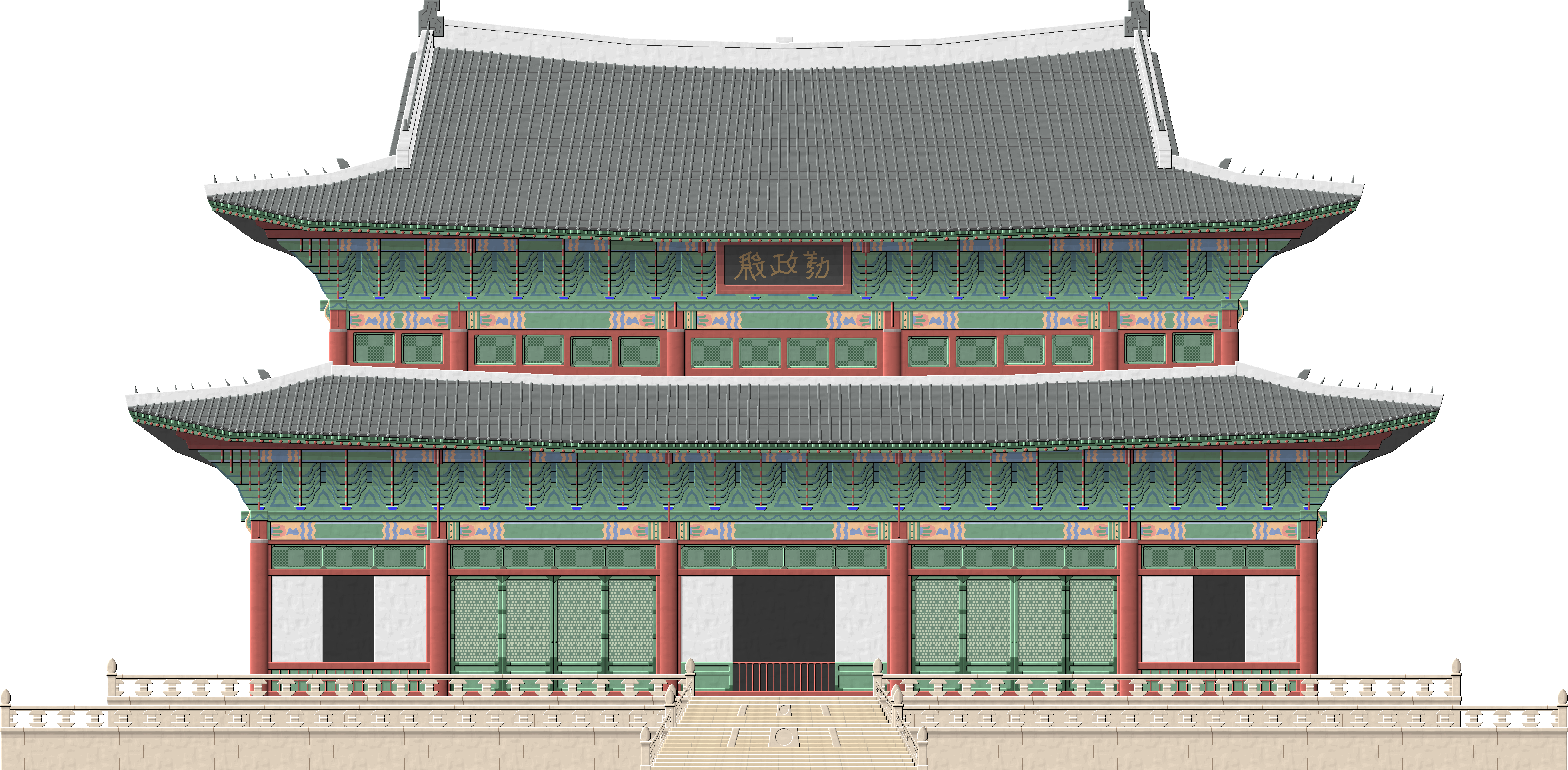 Transparent castle palace. Changdeokgung by herbertrocha on