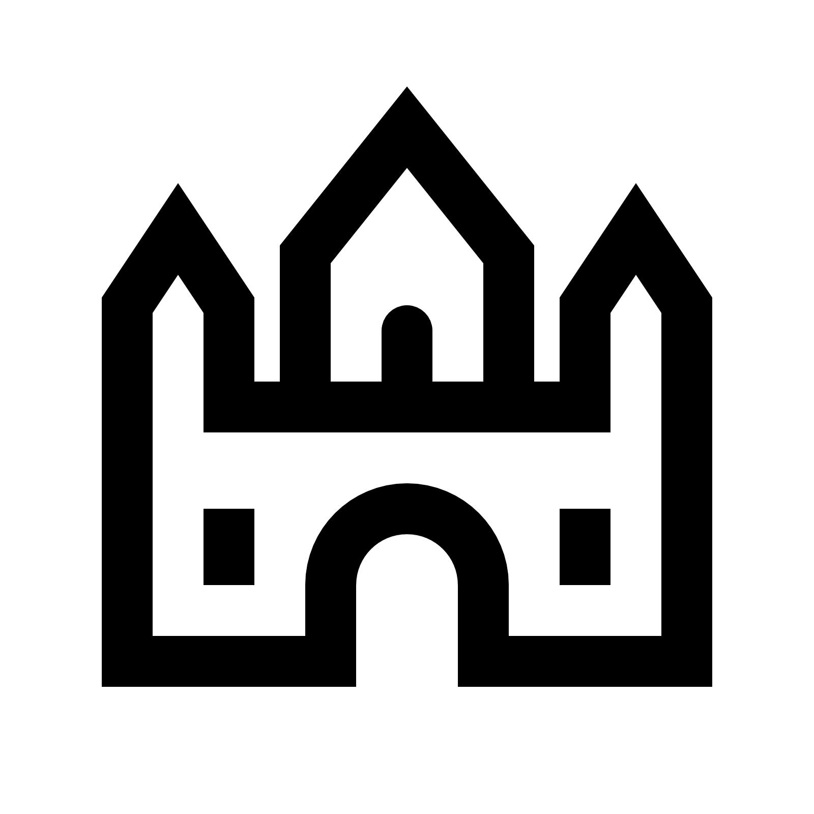 Transparent castle palace. Png images free download