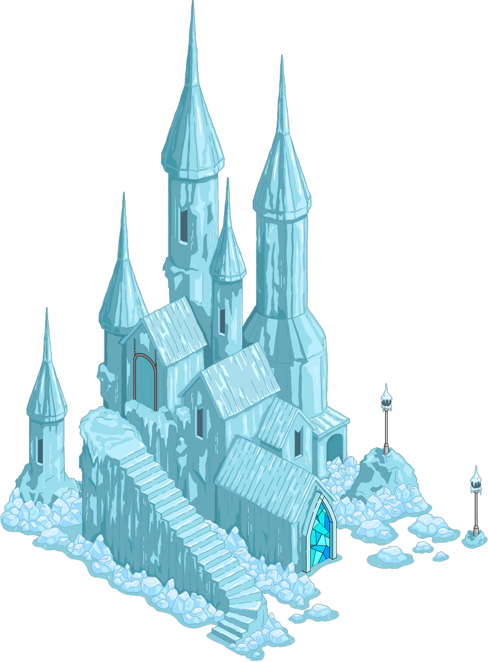 Transparent castle palace. Ice png images pluspng