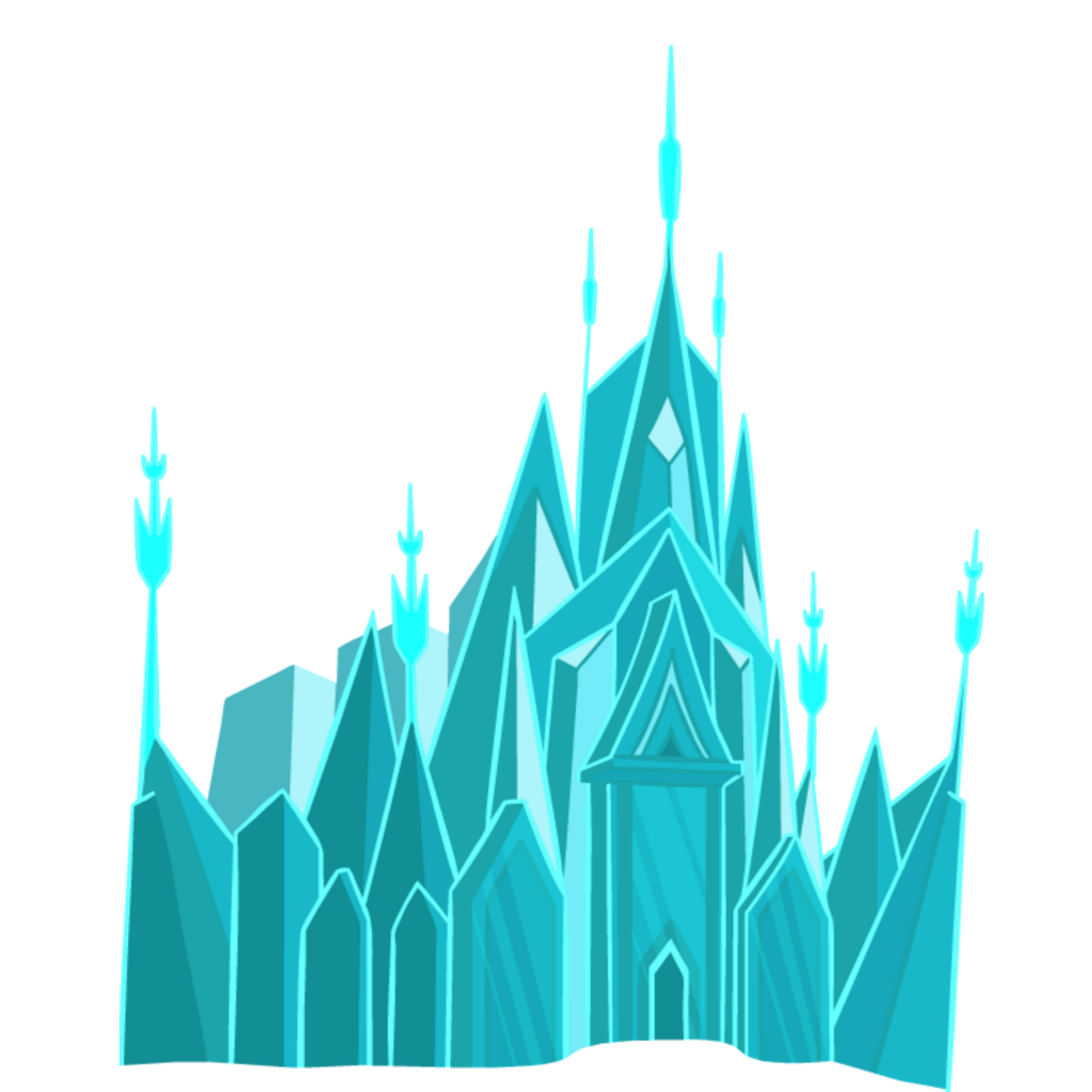 Transparent castle palace. Mq blue fantasy sticker