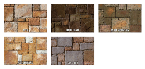 Rocky mountain stoneworks. Transparent castle stone graphic royalty free
