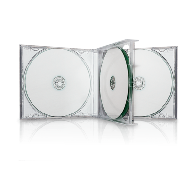 Transparent cd clear. Quad multibox with trays