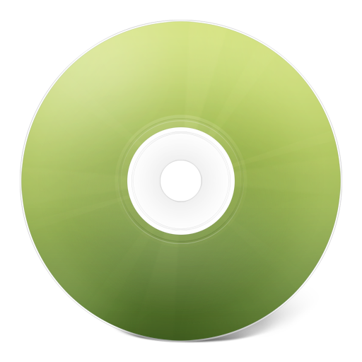 Transparent cd green. Icon free icons download