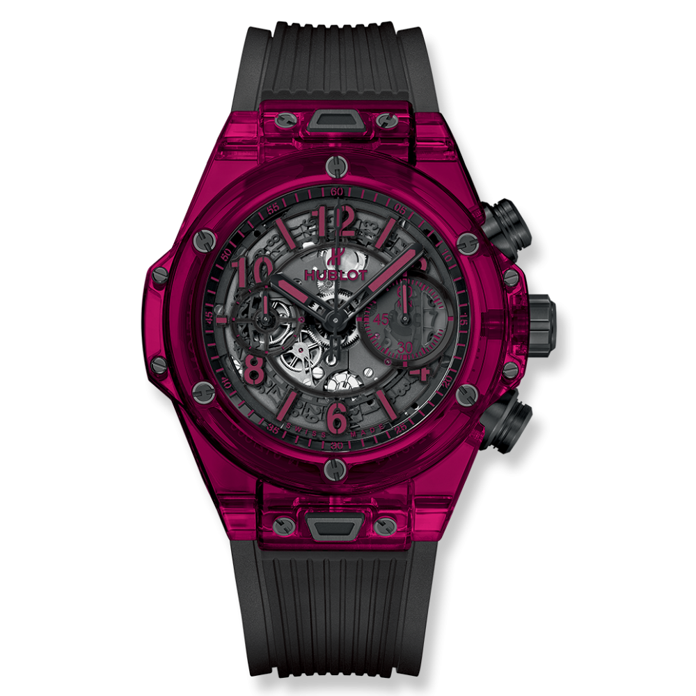 Transparent ceramic sapphire. Big bang unico red
